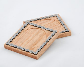 Bicycle Chain Inlay Coasters