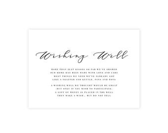 Complete Your Suite   Wishing Well Card   Wedding Event Invitation Suite   Printable Digital File Printed Invite Invitations Stationery
