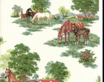 Moda Horse Fabric out of the Purebred II Collection by Erin Michael sold by the yard