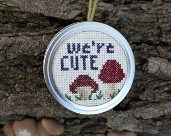 We're Cute Mushroom Ornament