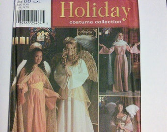Simplicity Holiday Costume Collection 7033, Misses Sizes L, XL, costume for Mary and three angels