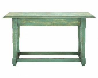 New 150 x 92 x 43 cm Industrial Rustic Teal Cafe Home Retro Bar Console Table
