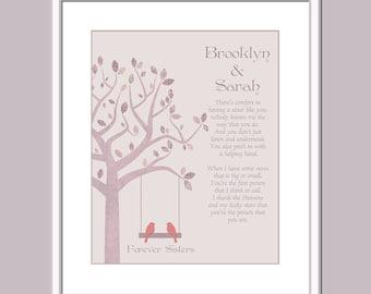 Custom Sister Print - Personalized Sister Print - Gift For Sister - Sister Art - Sister Sign