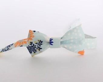Bow Tie   Felix Bow Tie   Blue floral bow tie   Floral bow tie   Adjustable bow tie  Toddler bow tie   Boys bow tie   Baby bow tie