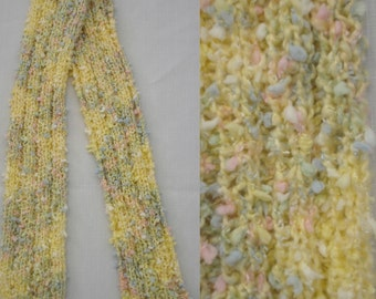 Butter Yellow Childs Knit Scarf 4 x 47