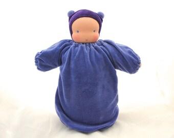 Waldorf weighted baby doll // heavy doll // waldorf toy // Steiner doll // cuddle doll // textile doll // cloth doll // sensory doll