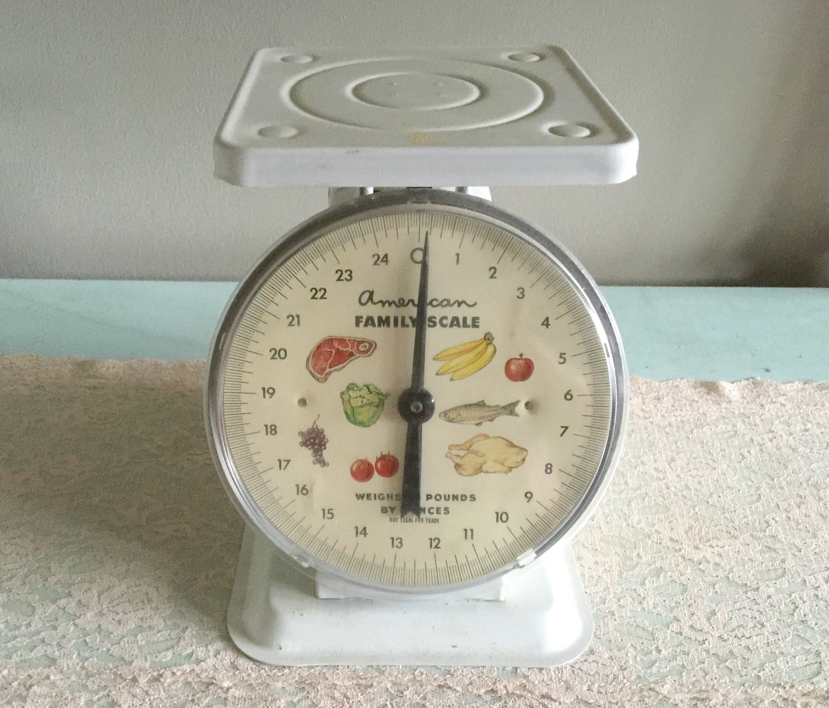 Vintage Kitchen Scale American Family Food Scale White