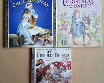 Little Golden Books Christmas Stories Set of 3