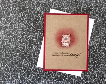 Punny Valentine Card Set, Bear Valentine Card, Funny Valentine Card, Handmade Card Set, Valentine card set, Valentines Day Card, Punny Cards
