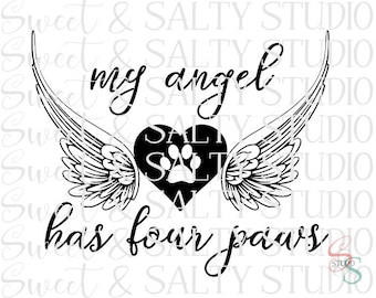 my angel has four paws digital file