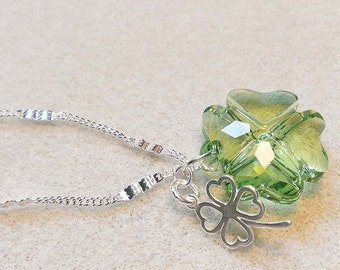 Notre Dame Necklace, Fighting Irish Necklace, Irish Necklace, Notre Dame, Sterling Silver, Swarovski Crystal, Donna J Jewelry