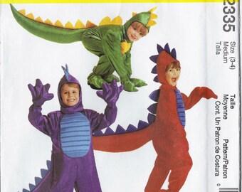 Dinosaur costume/Dragon costume pattern in children's sizes McCalls 2335 UNCUT & FF (1999)  K0253