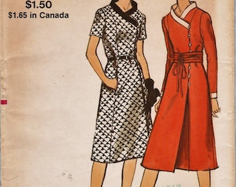 Vogue 7975 / Vintage 70s Sewing Pattern / Dress / Bust 45