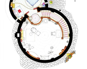 Layout of Rapunzel's Tower from TANGLED - Upper Floor