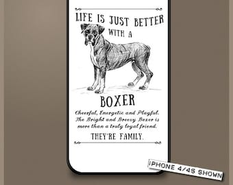 Boxer dog phone case cover iPhone Samsung ~ Can be Personalised