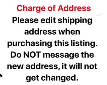 Change of shipping address!!!