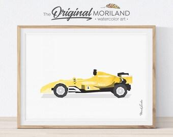 Race Car Printable, Racing Car Print, Transportation Wall Art, Prints for Toddlers, Big Boy Room Decor, Race Car Birthday