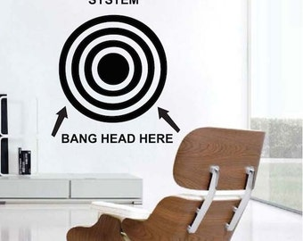 office wall decal. Funny Wall Quote - Office Removable Decals Bang Your Head Saying Decal T