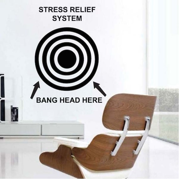 Funny Wall Quote   Office Removable Wall Decals   Bang Your Head Wall  Saying   Removable