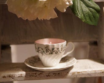 Rose Tea Cup Candle