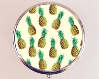 Pineapple Pill Box Case Pillbox Holder Trinket Stash Box Fruit Tropical