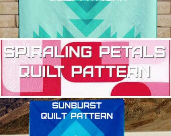 Transparency PDF Quilt Pattern Collection - A Pattern Digital Download (PDF) by Quilting Jetgirl