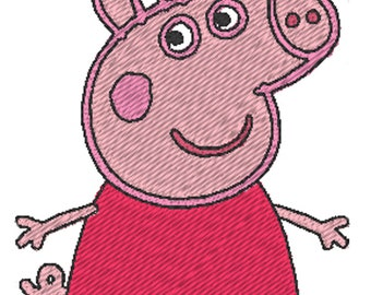 Peppa Pig (Embroidery Design)