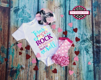 Jesus Is My Rock And That's How I Roll/Jesus is my Rock/Jesus Shirt/Christian Shirt/Kids Shirt/Christian Shirt/Unisex Kids Tee/Gift for Her
