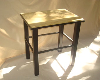 Rustic Sandstone with Steel Base Occasional or End Table