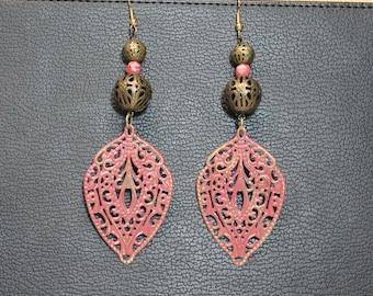 Antique Pink Earrings
