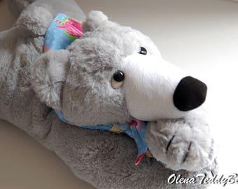 Plush bear soft toy for sleep artist bears stuffed animal handmade artist teddy bear small pillow collectible