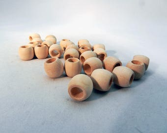 Unfinished Round Wooden Beads