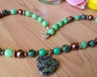 Green Heart Dream Necklace