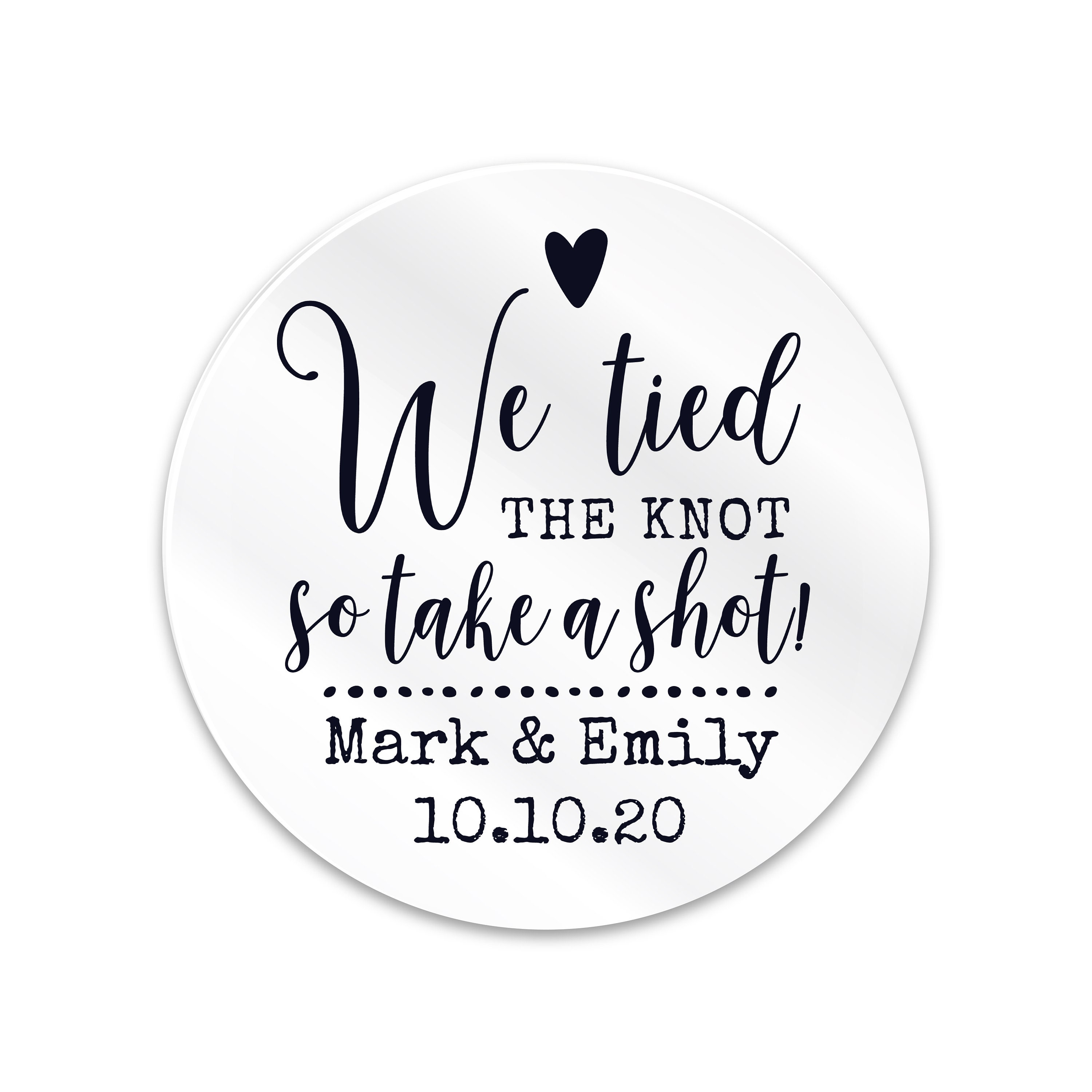 Wedding favours stickers and labels, Transparent personalised ...