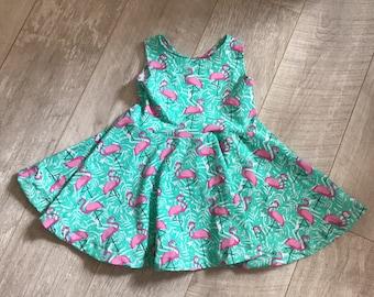 Flamingo skater dress