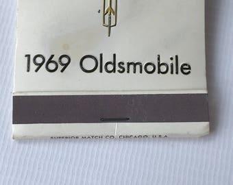 Vintage Match Book, Car Dealership, Fourth Street Motor Sales, De Kalb, Il, 1969 Oldsmobile
