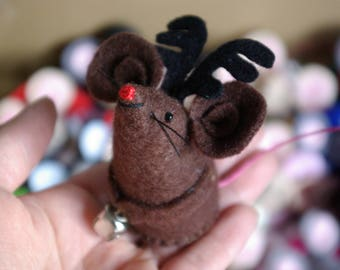 Felt mouse, Reindeer mice, Felt mice, Handmade, Christmas decorations, Felt Christmas decorations,