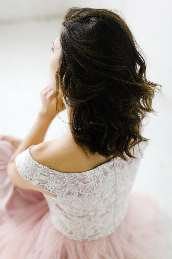 high beach clothing shoulder dress bridal dress wedding simple tulle prom Off long romantic dress wedding evening ball gown pink waist gqTxRffwB