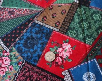 16 Cranston Patchwork Look Fabric Vintage