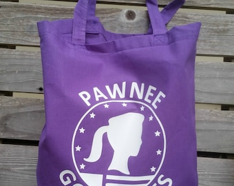 Parks & Recreation Pawnee Goddesses Leslie Knope Tote Bag