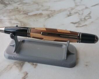 Segmented Maple and Walnut Pen