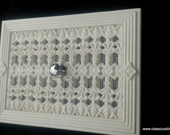 """12""""x 8"""" Victorian air Vent Cover HIT & MISS open closed version (louvre design"""