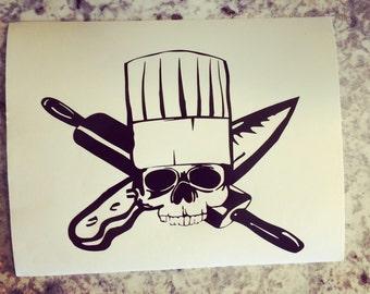 Chef skull decal | Chef | food | treats