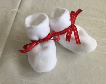 Baby Booties - White