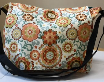 Flower messenger bag