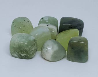Serpentine New Jade Crystal Tumblestone
