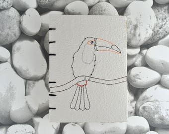 Coptic Stitch Toucan Notebook Journal