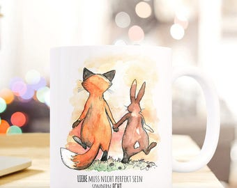 Gift coffee cup Fox rabbit real love TS287