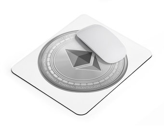 Ethereum Mousepad  / Ethereum Logo  / Ethereum Coin /  Ethereum Symbol / Ethereum Decal /  Ethereum Souvenir / Ethereum Gifts / Mouse Pad
