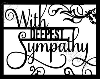 With Deepest Sympathy SVG